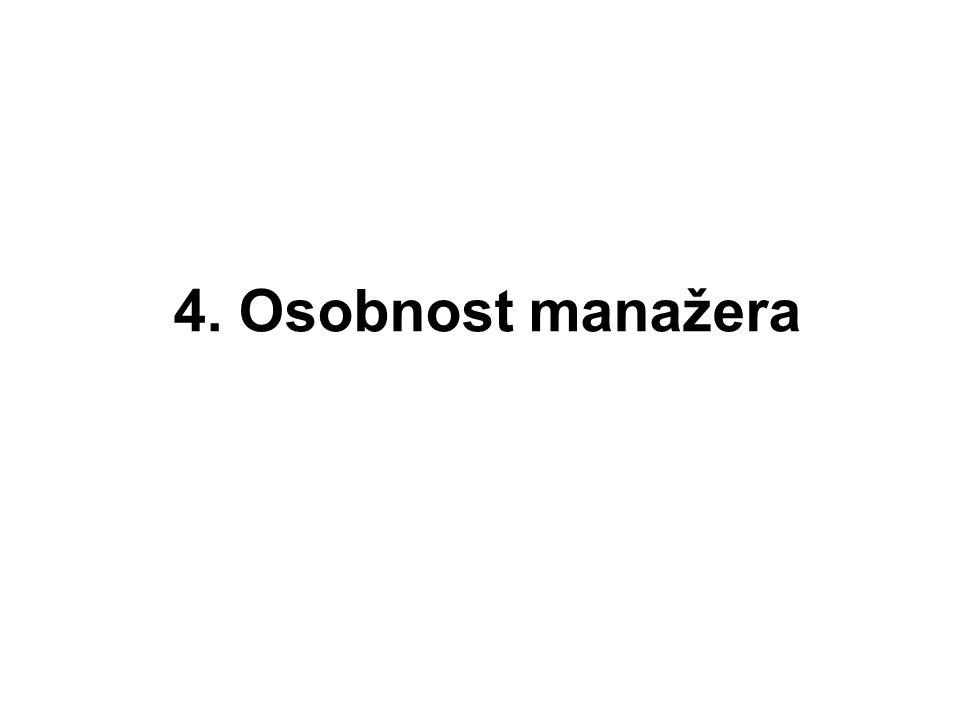 4. Osobnost manažera