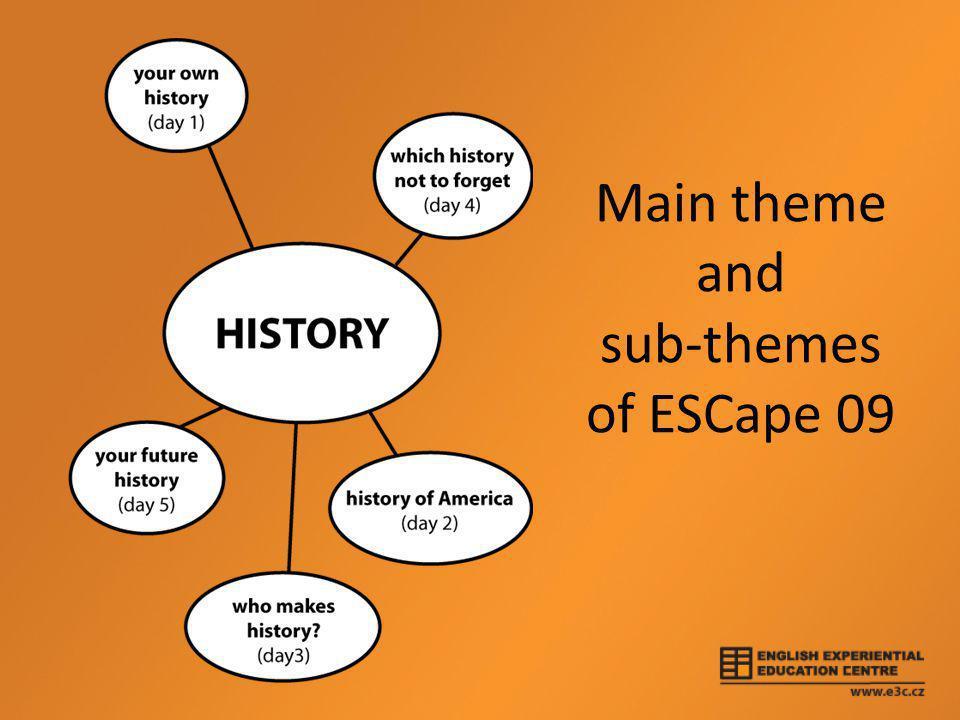 Main theme and sub-themes of ESCape 09