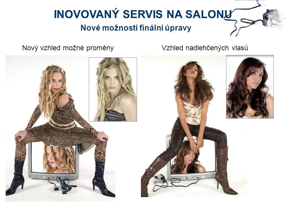Nový vzhled možné proměnyVzhled nadlehčených vlasů Nové možnosti finální úpravy INOVOVANÝ SERVIS NA SALONU
