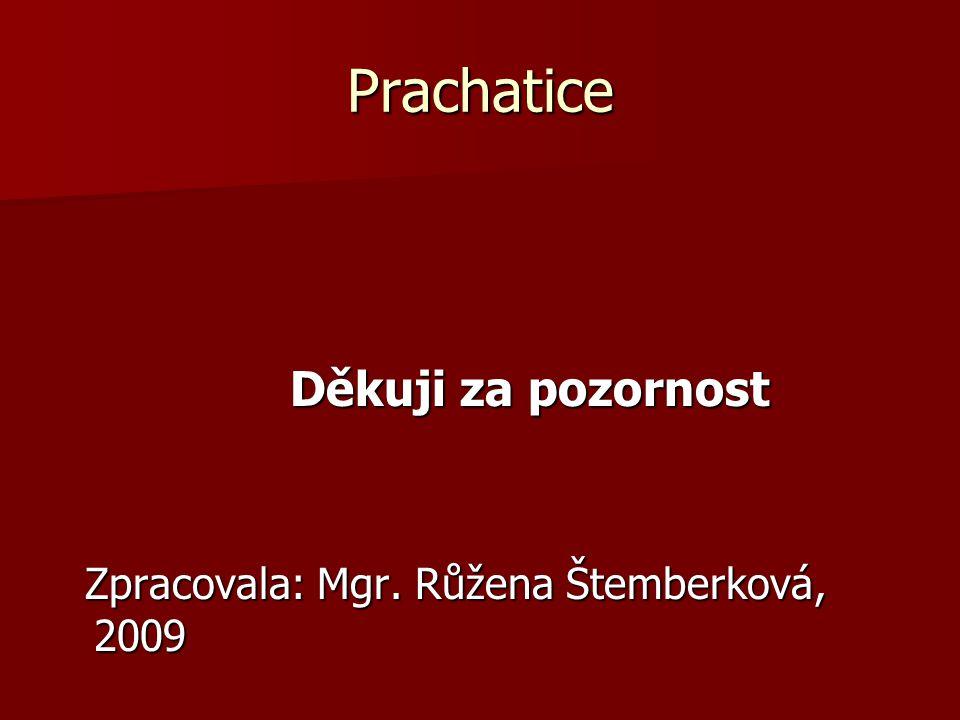 Prachatice Děkuji za pozornost Děkuji za pozornost Zpracovala: Mgr. Růžena Štemberková, 2009 Zpracovala: Mgr. Růžena Štemberková, 2009