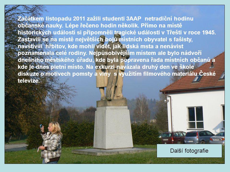 Začátkem listopadu 2011 zažili studenti 3AAP netradiční hodinu občanské nauky.