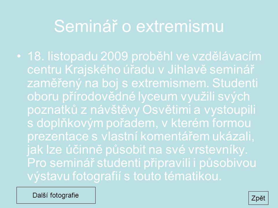 Seminář o extremismu •18.