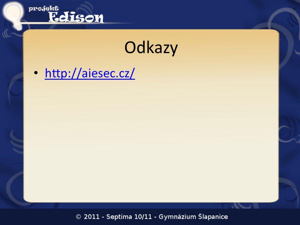 Odkazy • http://aiesec.cz/ http://aiesec.cz/