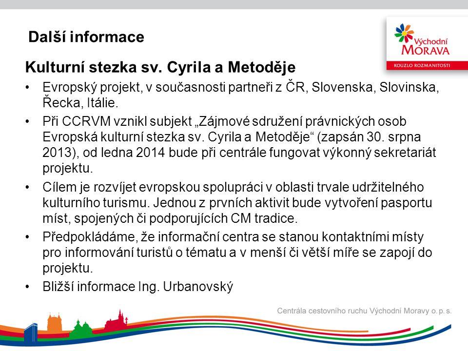 Další informace Kulturní stezka sv.