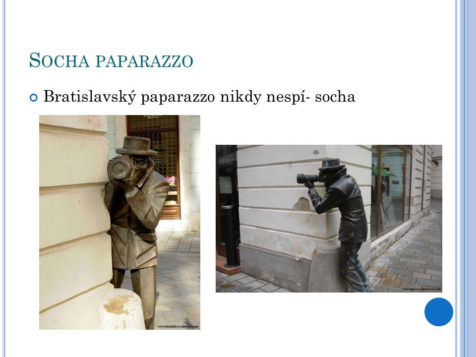 S OCHA PAPARAZZO Bratislavský paparazzo nikdy nespí- socha