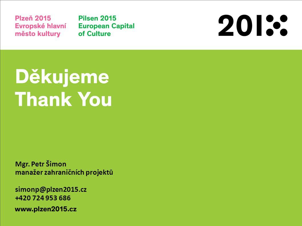 www.plzen2015.cz Děkujeme Vám za pozornost. Mgr.