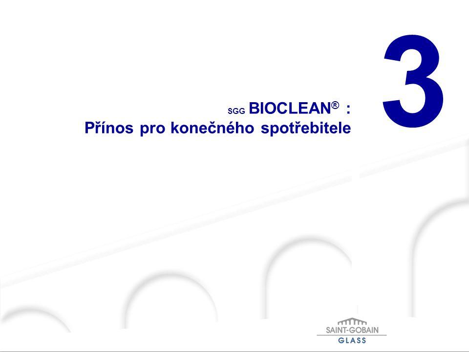 3 SGG BIOCLEAN ® : Přínos pro konečného spotřebitele