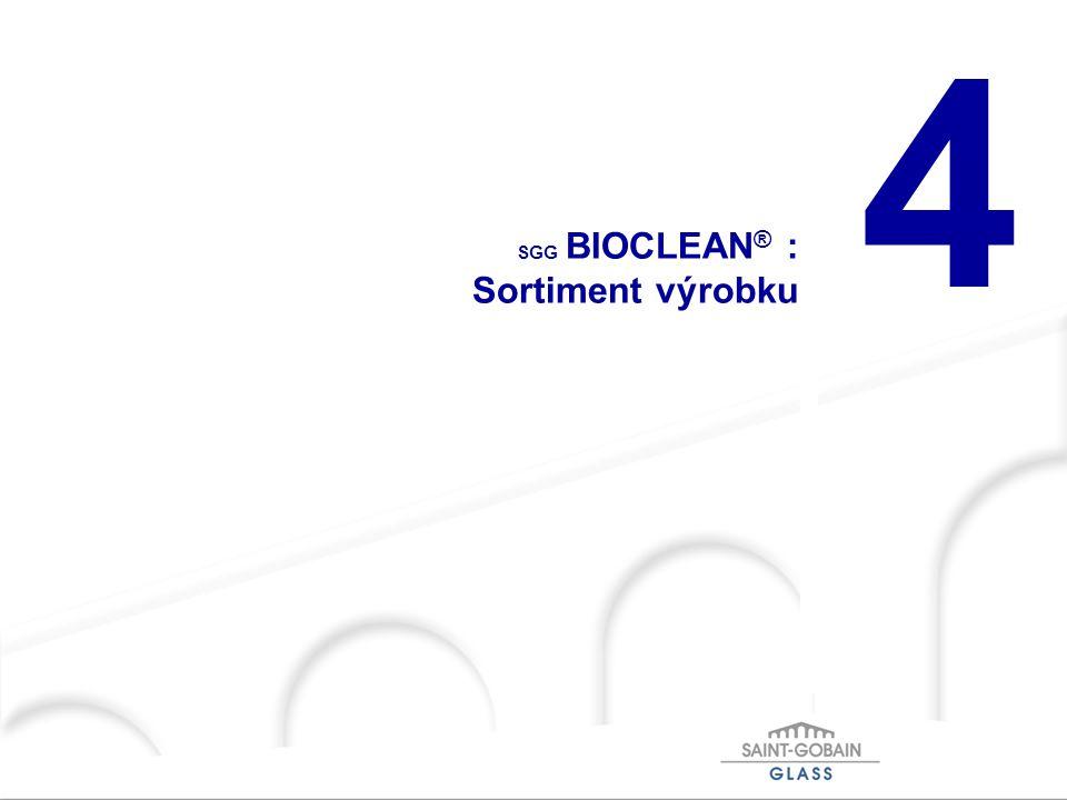 4 SGG BIOCLEAN ® : Sortiment výrobku