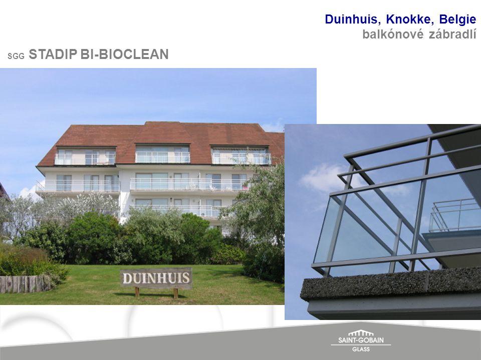 Duinhuis, Knokke, Belgie balkónové zábradlí SGG STADIP BI-BIOCLEAN