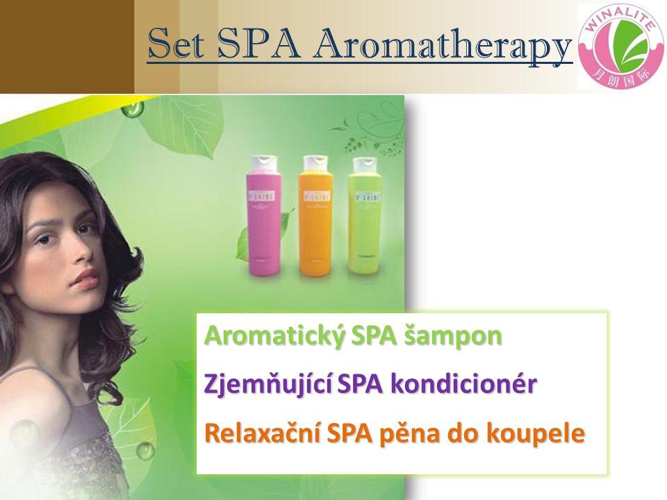 Set SPA Aromatherapy Aromatický SPA šampon Zjemňující SPA kondicionér Relaxační SPA pěna do koupele
