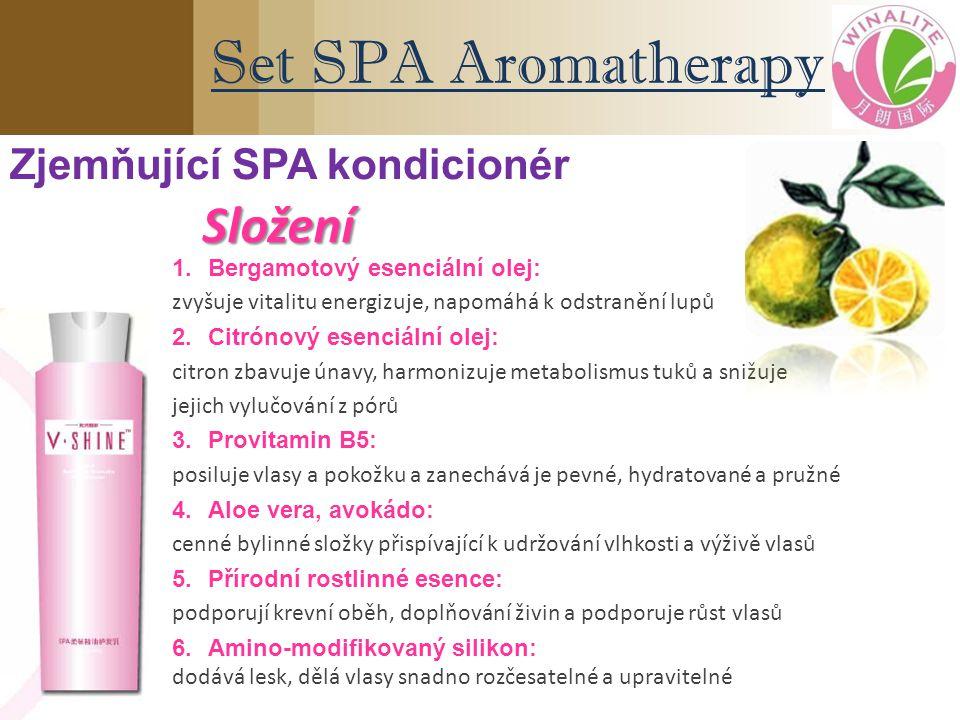 1.Bergamotový esenciální olej: zvyšuje vitalitu energizuje, napomáhá k odstranění lupů 2.Citrónový esenciální olej: citron zbavuje únavy, harmonizuje