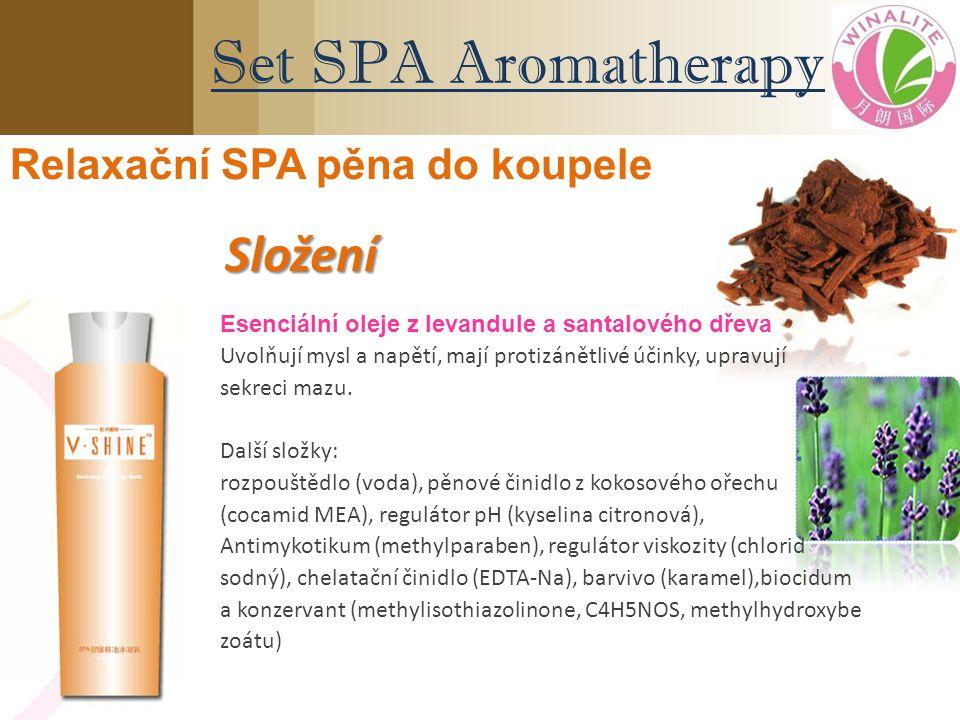 Esenciální oleje z levandule a santalového dřeva Uvolňují mysl a napětí, mají protizánětlivé účinky, upravují sekreci mazu. Další složky: rozpouštědlo