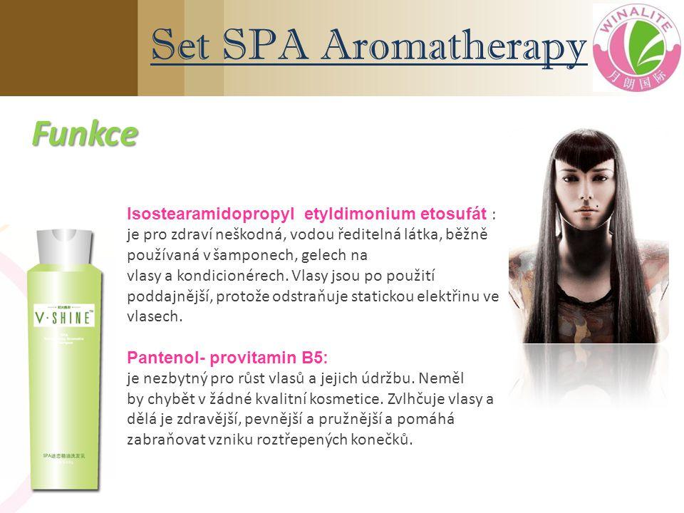 Isostearamidopropyl etyldimonium etosufát : je pro zdraví neškodná, vodou ředitelná látka, běžně používaná v šamponech, gelech na vlasy a kondicionérech.