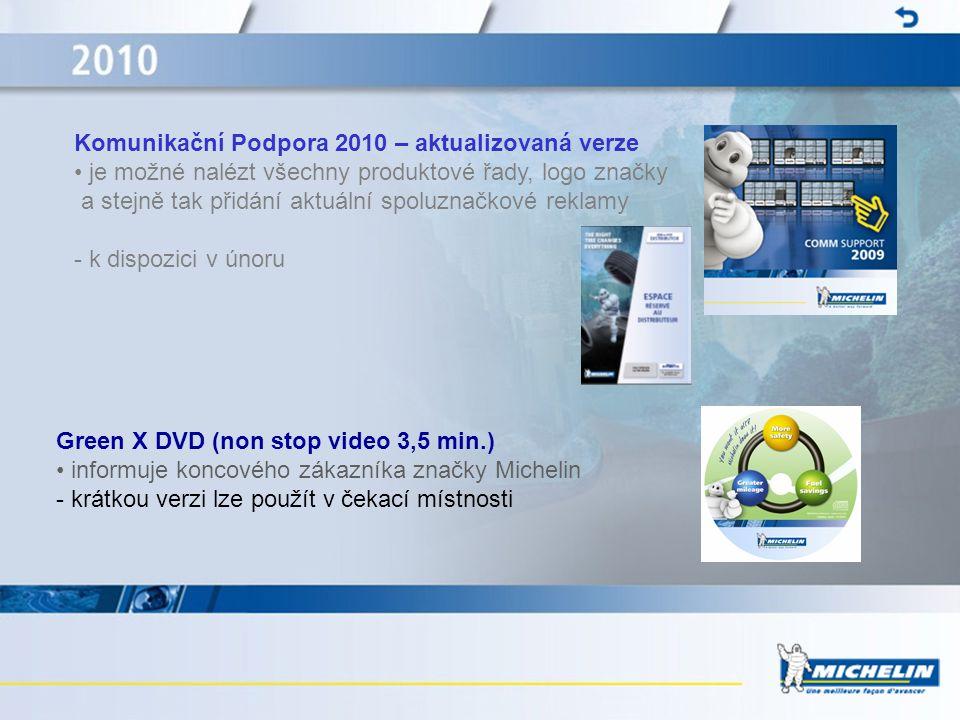 Komunikační Podpora 2010 – aktualizovaná verze • je možné nalézt všechny produktové řady, logo značky a stejně tak přidání aktuální spoluznačkové rekl