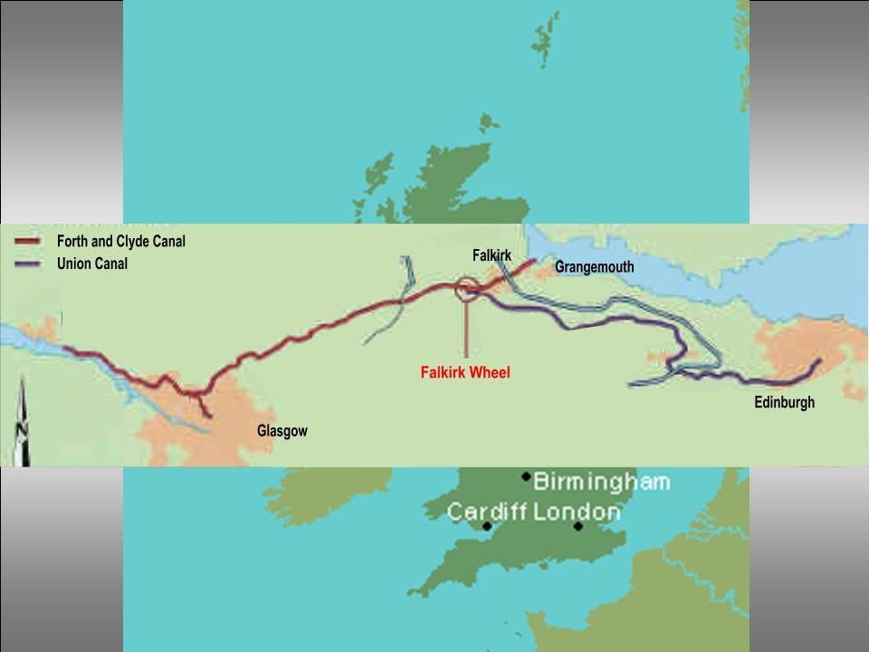 Mezi přístavy Grangemouth a Falkirk byl vybudován v roce 1777 kanál Forth a Clyde, který spojoval Glasgow se západním pobřežím Skotska. Kanál Union, m