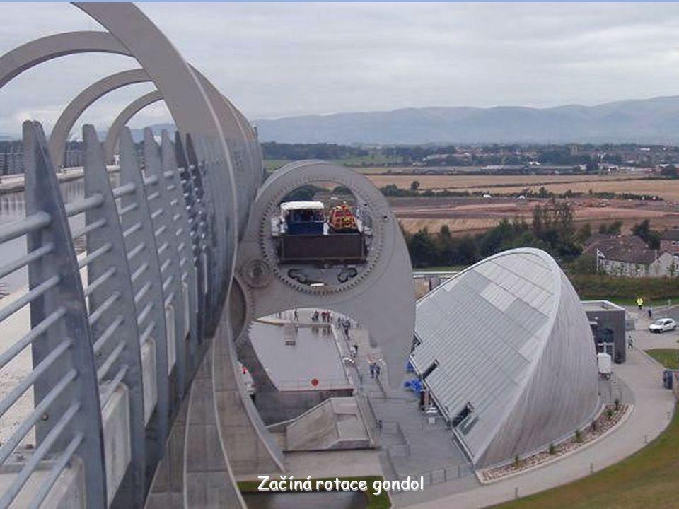 Lodě se nacházejí v obou gondolách Horní gondola Dolní gondola 35 m
