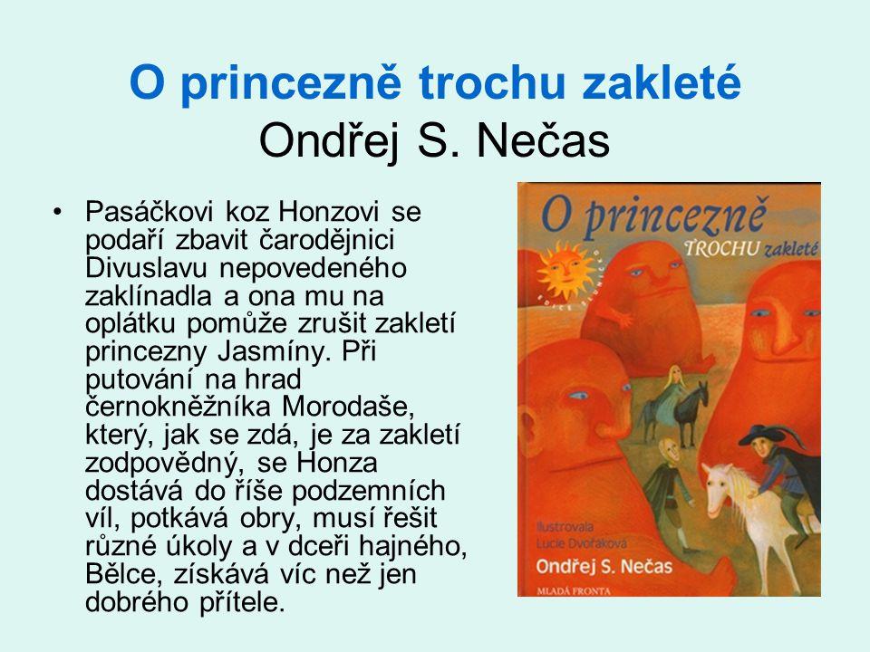 O princezně trochu zakleté Ondřej S. Nečas •Pasáčkovi koz Honzovi se podaří zbavit čarodějnici Divuslavu nepovedeného zaklínadla a ona mu na oplátku p