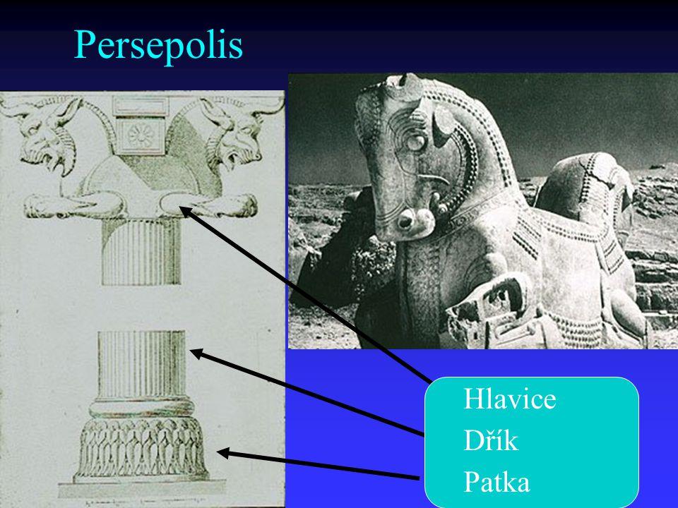 Persepolis Hlavice Dřík Patka