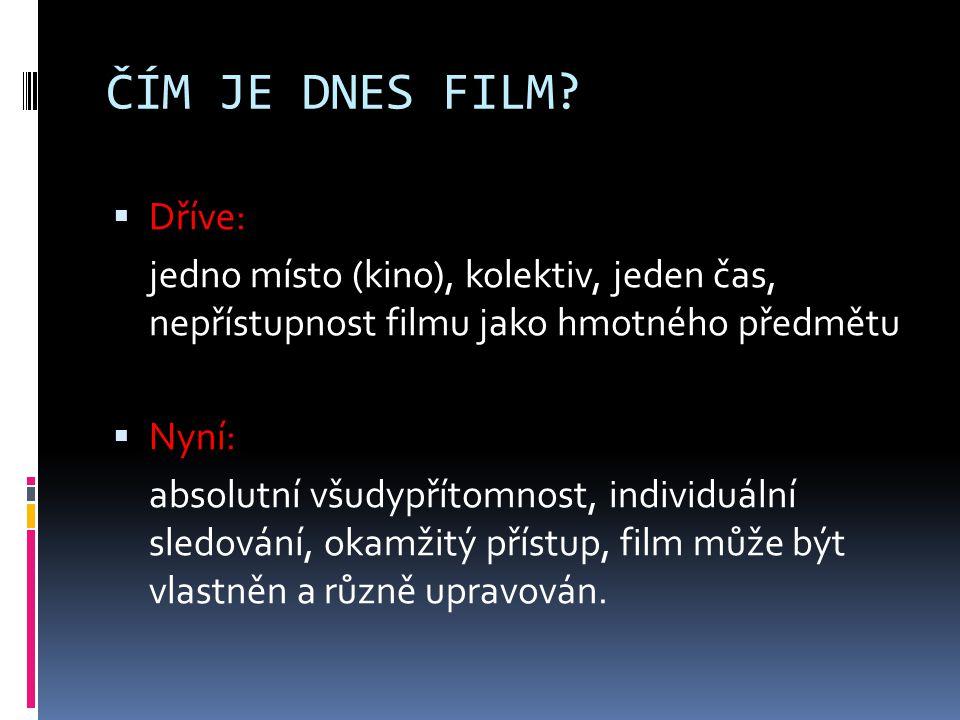 ČÍM JE DNES FILM.