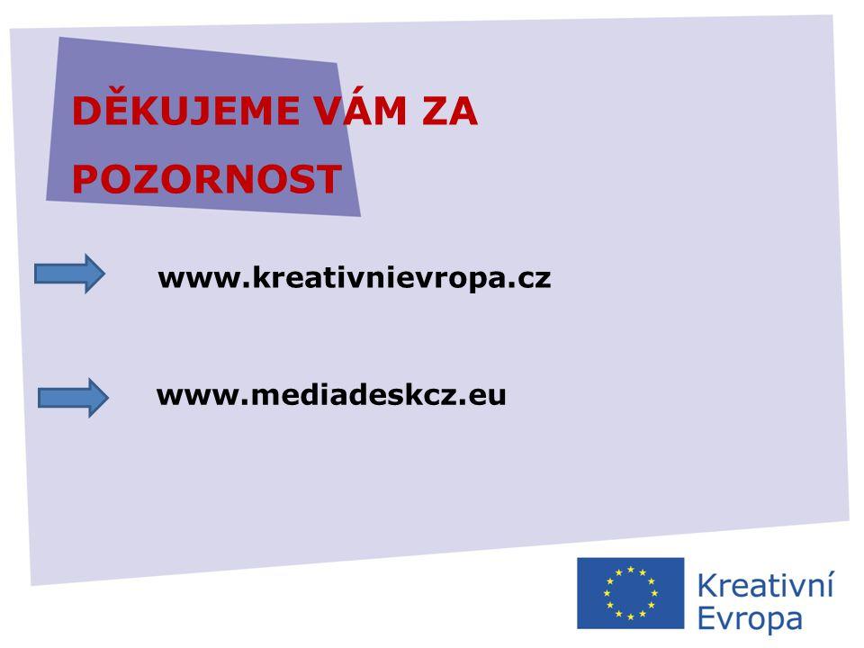 27.11.2013 DĚKUJEME VÁM ZA POZORNOST www.kreativnievropa.cz www.mediadeskcz.eu