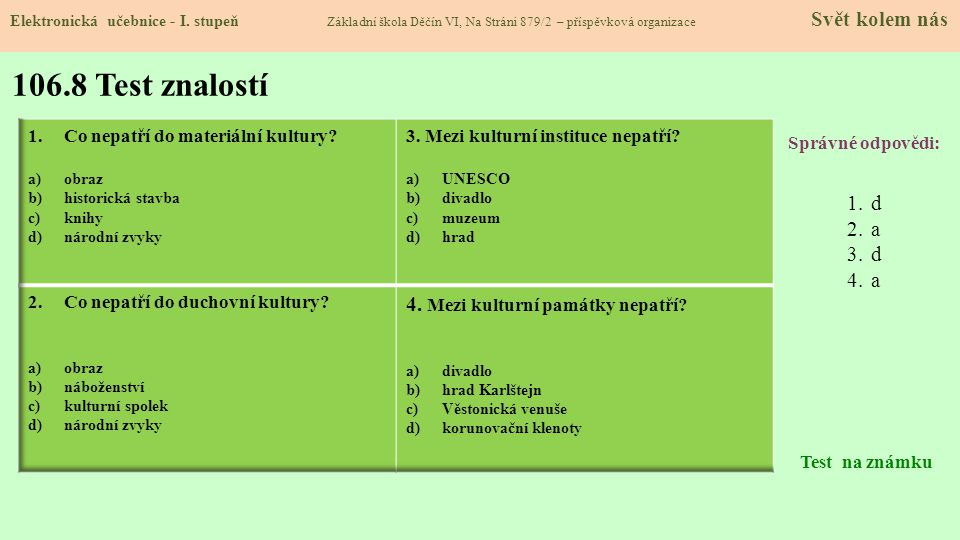 106.9 Použité zdroje, citace Elektronická učebnice - I.