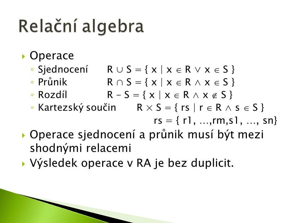  Select * from Student where (Příjmení like D% ) Student LoginPříjmeníJménoVěk Dra025DrábekTomášNULL Sip001ŠípkováRůžena29 Zub011ZubatáEvaNULL Dol098DolňákBohumilNULL LoginPříjmeníJménoVěk Dra025DrábekTomášNULL Dol098DolňákBohumilNULL