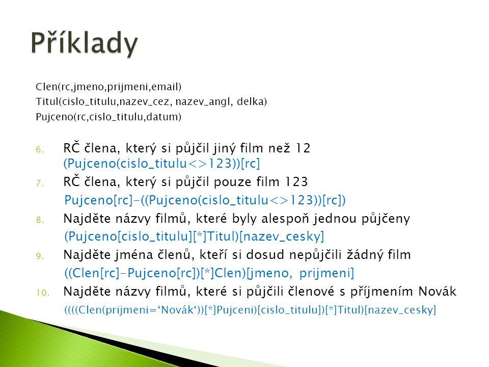  Select AVG(Věk) as PrůměrnýVěk from Student Student LoginPříjmeníJménoVěk Dra025DrábekTomáš23 Sip001ŠípkováRůžena29 Zub011ZubatáEvaNULL Nov098NovákBohumil13 PrůměrnýVěk 21,6666666