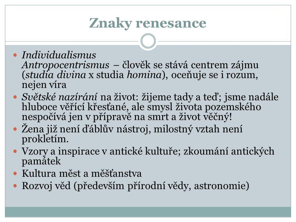 Periodizace italské renesance  Raná (trecento) – 14.