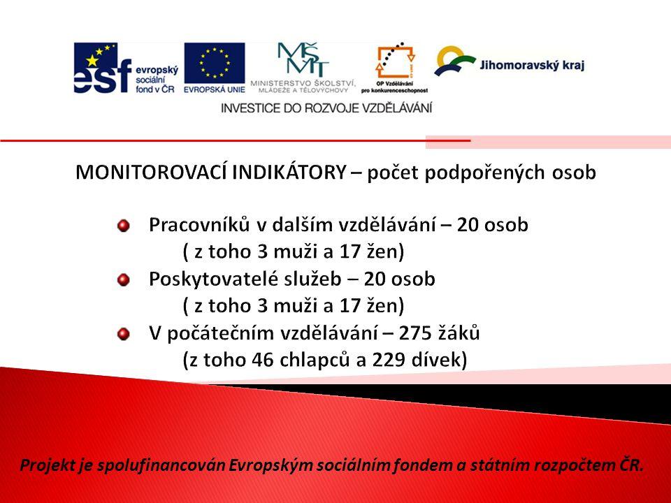Projekt je spolufinancován Evropským sociálním fondem a státním rozpočtem ČR.