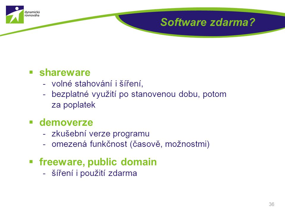 Software zdarma.