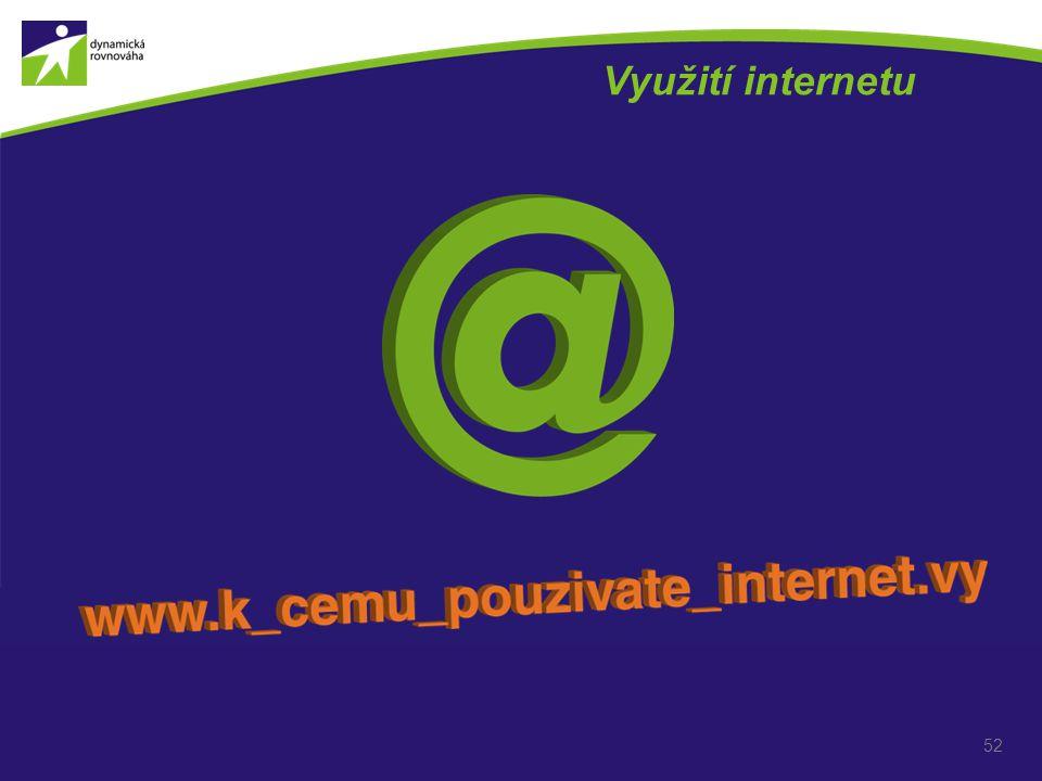 Využití internetu 52