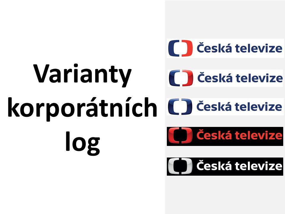 Česká televize; redesign loga ČT; únor 2012 15 Varianty korporátních log