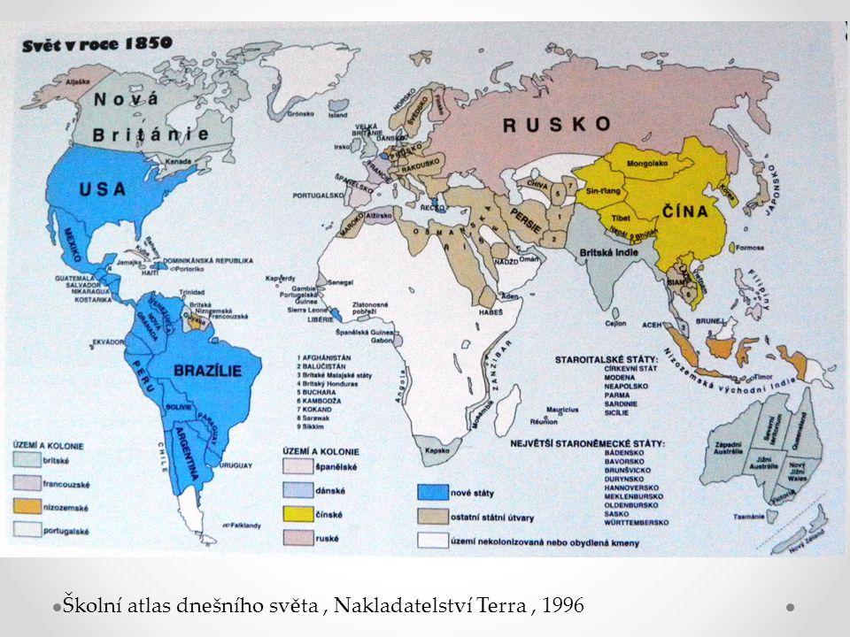 Školní atlas dnešního světa, Nakladatelství Terra, 1996