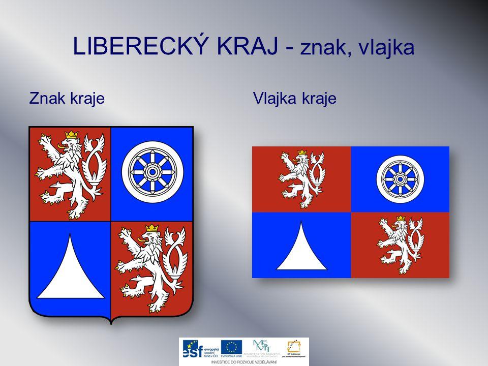 LIBERECKÝ KRAJ - znak, vlajka Znak krajeVlajka kraje