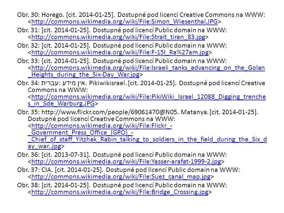 Obr. 30: Horego. [cit. 2014-01-25]. Dostupné pod licencí Creative Commons na WWW: http://commons.wikimedia.org/wiki/File:Simon_Wiesenthal.JPG Obr. 31: