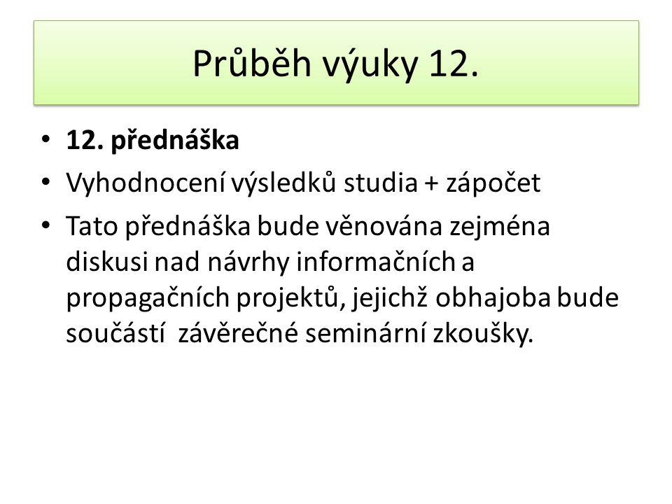 Průběh výuky 12.• 12.