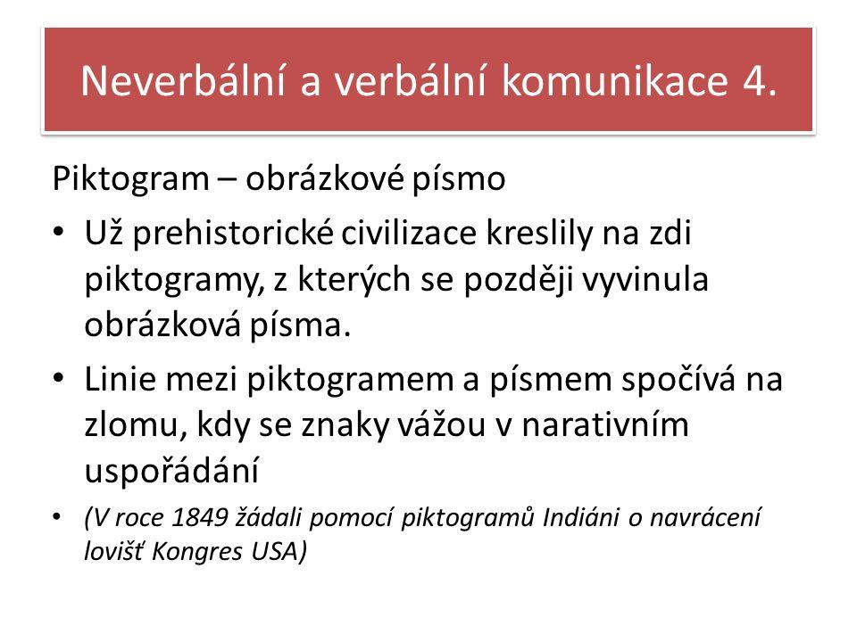 Neverbální a verbální komunikace 4.