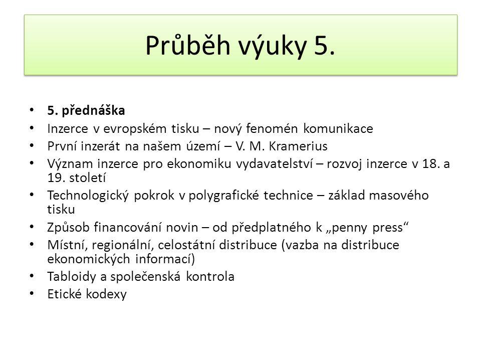 Průběh výuky 6.• 6.