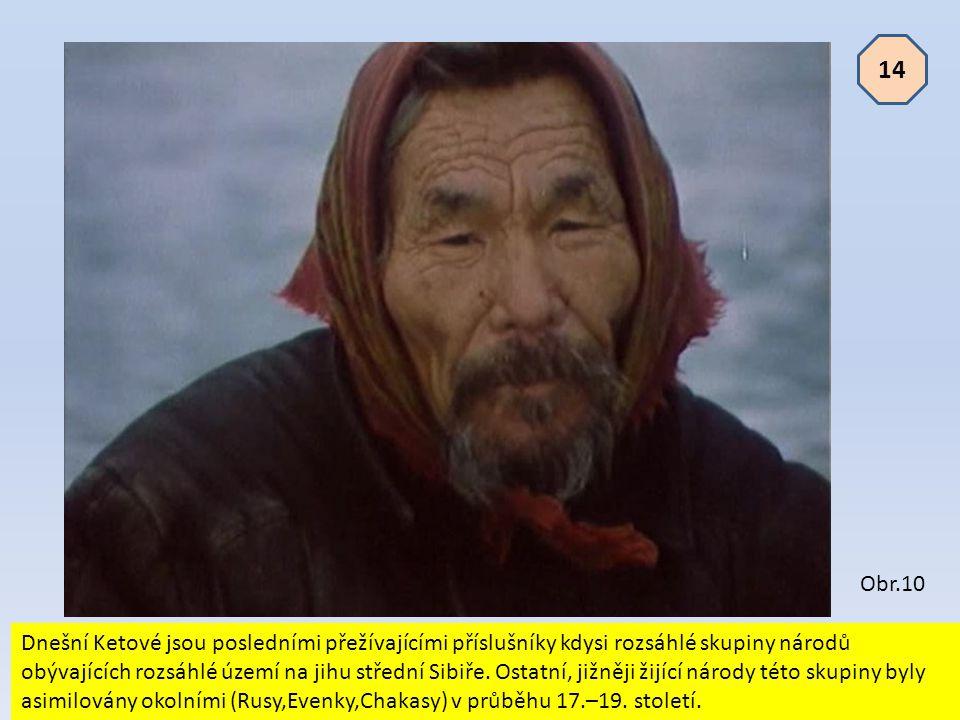 Dnešní Ketové jsou posledními přežívajícími příslušníky kdysi rozsáhlé skupiny národů obývajících rozsáhlé území na jihu střední Sibiře. Ostatní, jižn