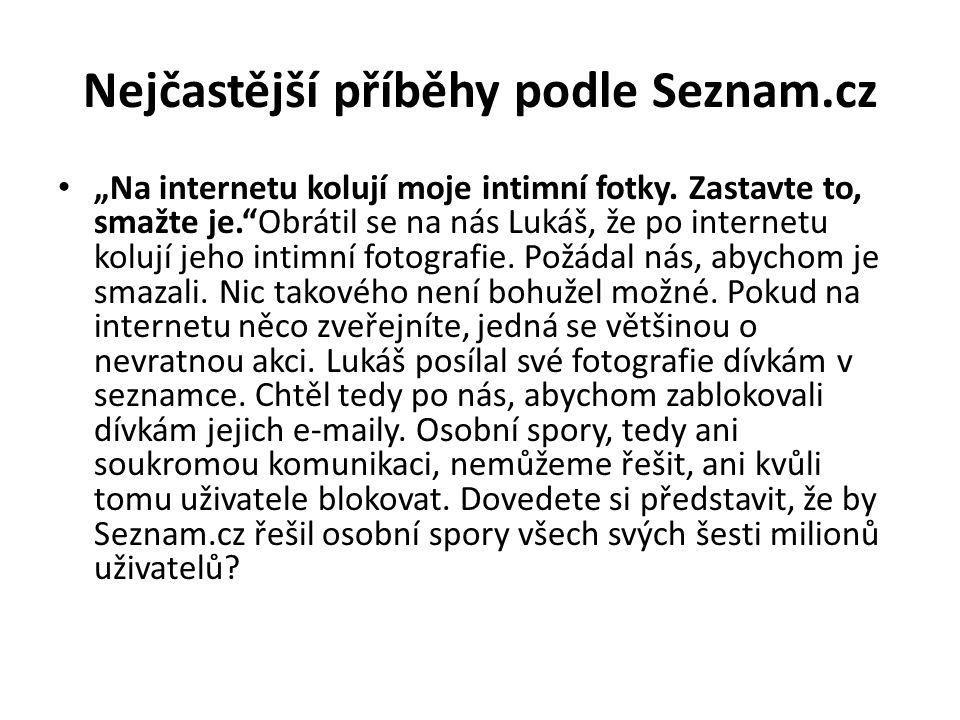 """Nejčastější příběhy podle Seznam.cz • """"Na internetu kolují moje intimní fotky."""