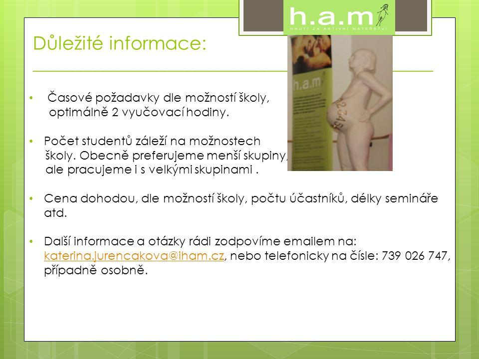 Lektorské profily: ________________________________________________ • Petra Sovová V roce 1999 spoluzaložila Hnutí za Aktivní Mateřství, občanské sdružení, jehož hlavním cílem je pozitivní změna přístupu českých porodnic k ženám.