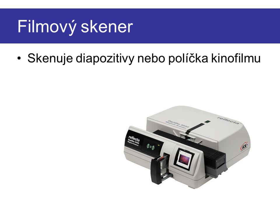 Filmový skener •Skenuje diapozitivy nebo políčka kinofilmu