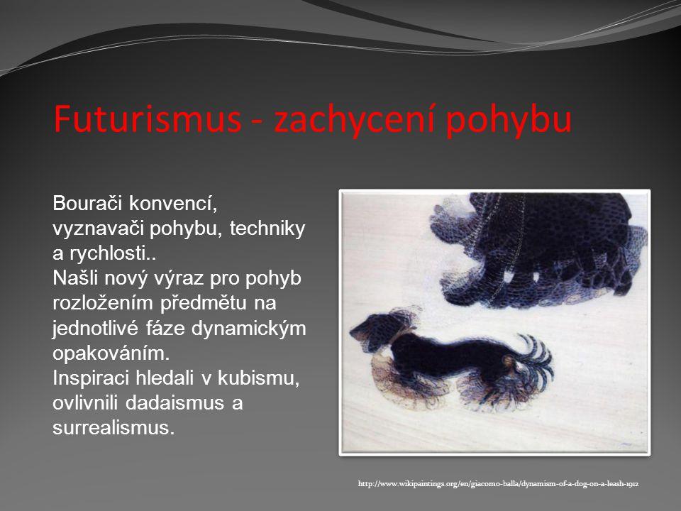 Futurismus Vytvořeno v rámci projektu Gymnázium Sušice - Brána vzdělávání II Autor: Mgr.