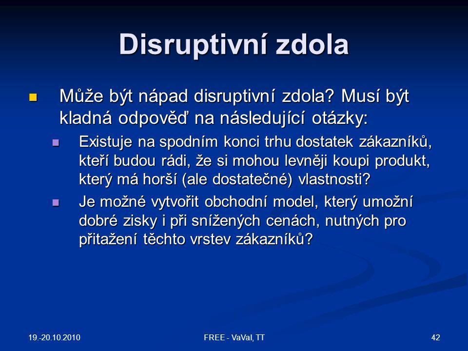 Disruptivní zdola  Může být nápad disruptivní zdola.