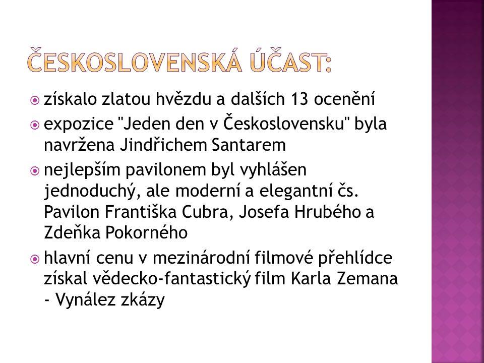 Československý pavilon František CubrJosef Hrubý Zdeněk Pokorný Jindřich Santar