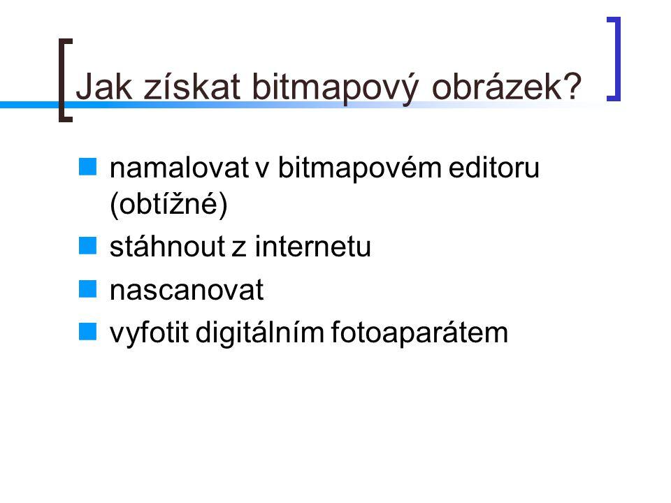 Jak získat bitmapový obrázek.