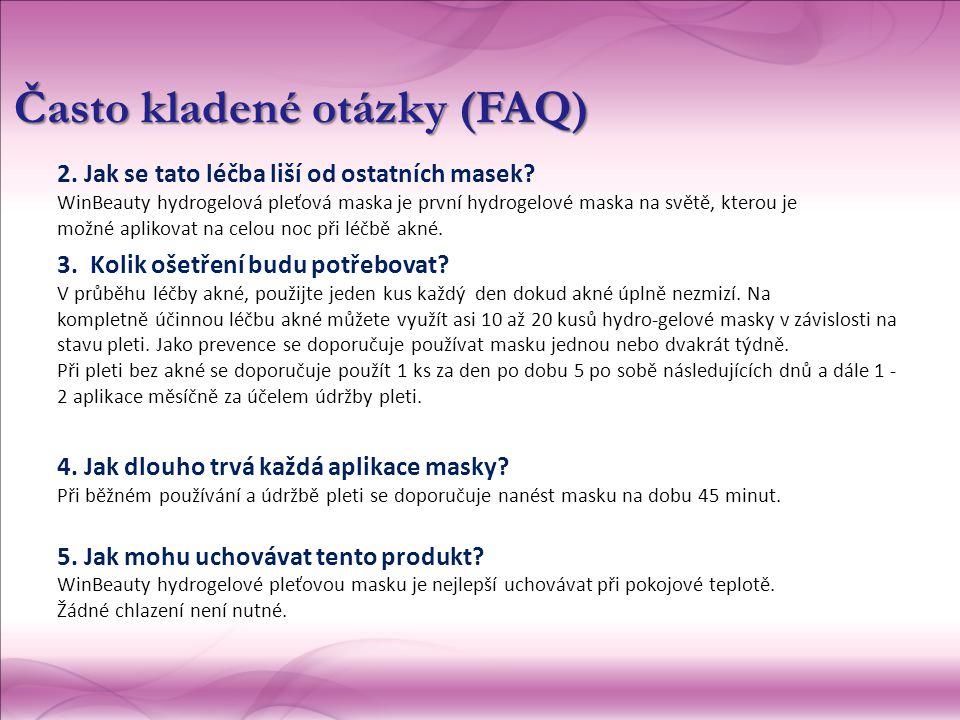2. Jak se tato léčba liší od ostatních masek? WinBeauty hydrogelová pleťová maska je první hydrogelové maska na světě, kterou je možné aplikovat n