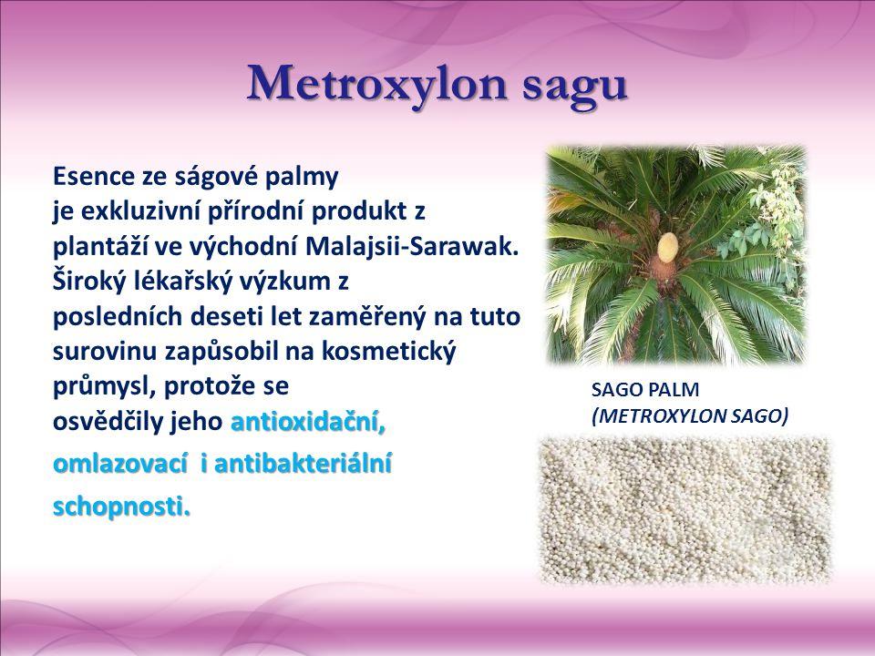 Metroxylonsagu Metroxylon sagu antioxidační, Esence ze ságové palmy je exkluzivní přírodní produkt z plantáží ve východní Malajsii-Sarawak.