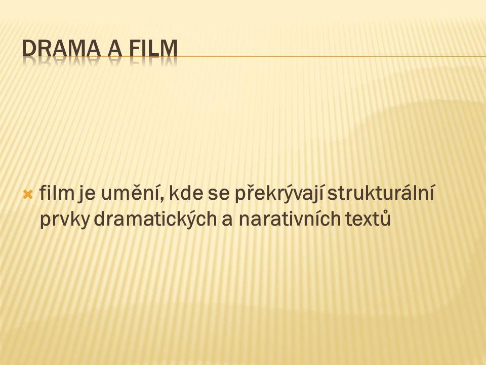  film je umění, kde se překrývají strukturální prvky dramatických a narativních textů