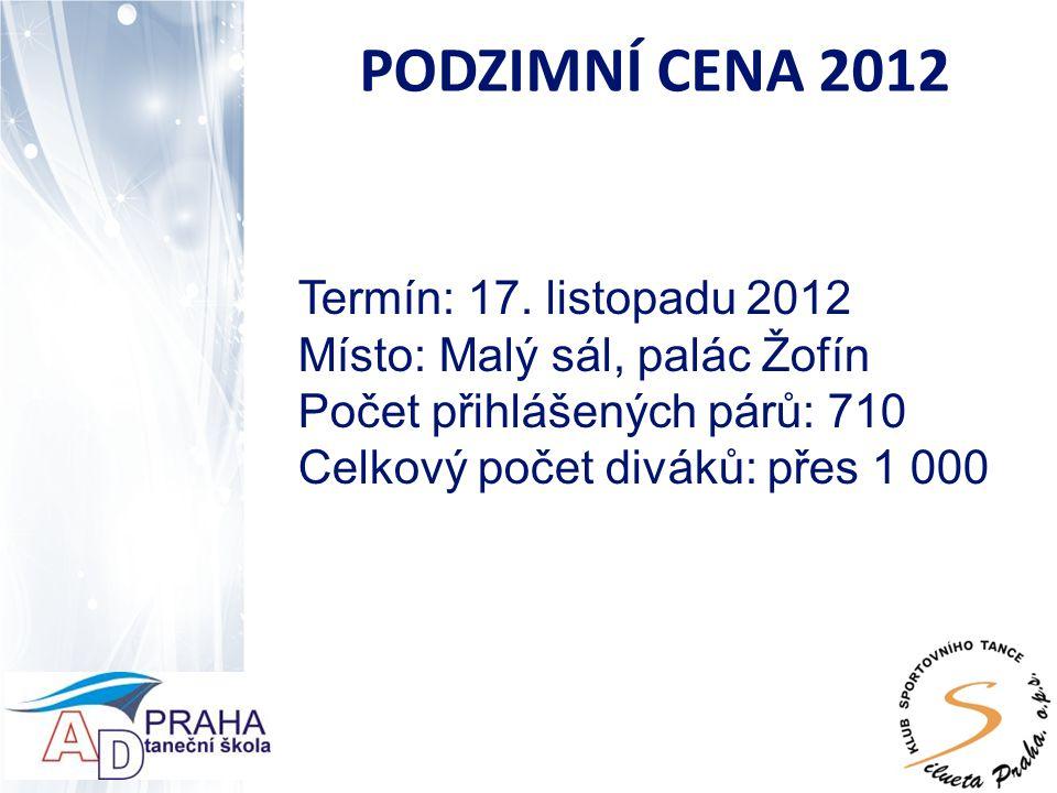 PODZIMNÍ CENA 2012 Termín: 17.